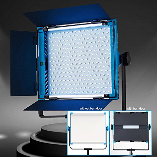 Yidoblo RGBW LED Soft Video Light Panel 2800K-10000K Dimmable by DMX Phone App Remote Controller with Barn Doors  96W 95RA  Continuous Lighting for Photo Studio Video Film