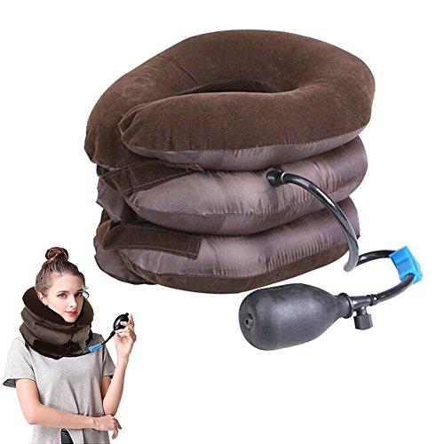Cervical Traktionsgerät,aufblasbare Traktionsgerät Neck Traction Device-Effektive und Instant Relief für Halsschmerzen und Schulter Schmerzen