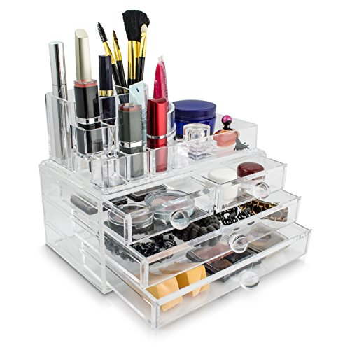 venkon-make-up-organizer-sorting-box-for-tidy-storage-of-cosmetics-10-sections-and-4-drawers-clear-a