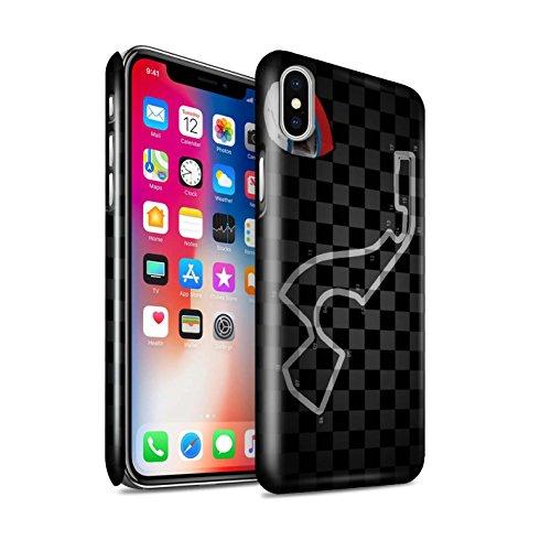 STUFF4 Glanz Snap-On Hülle / Case für Apple iPhone X/10 / Belgien/Spa Muster / 2014 F1 Piste Kollektion Russland/Sotschi