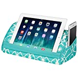 "LapGear Designer Tablet Pillow - Aqua Trellis (Fits up to 10.5"" Tablet)"