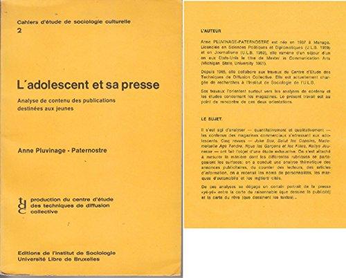 L ADOLESCENT ET SA PRESSE 1971 Salut Les Copains par Anne Pluvinage Paternostre