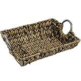 Körbe Schale Frühstückskorb Dekoschale Aufbewahrungskorb Obst Brot-Korb aus natürlicher geflochtener