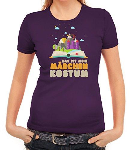Fasching Karneval Damen T-Shirt mit Das ist mein Märchen Kostüm Motiv von ShirtStreet Lila