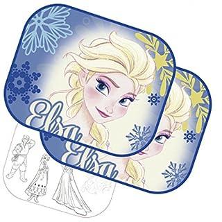 Arditex WD11541 Disney Frozen Die EIskönigin Set 2 Sonnenblende seitlichen + Folie für Malen. 44 X 1 X 36 cm. Mit Saugnäpfen