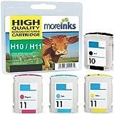 4x Cartouches d'encre Compatibles pour Imprimante HP DesignJet 110 Plus nr - Cyan / Jaune / Magenta / Noir