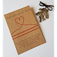Red String of Fate Bracelet, Couples Bracelet, Anniversary Gift, Anniversary Card,His & Her Bracelet, Couples Card Gift,Friend Gift,Bracelet.