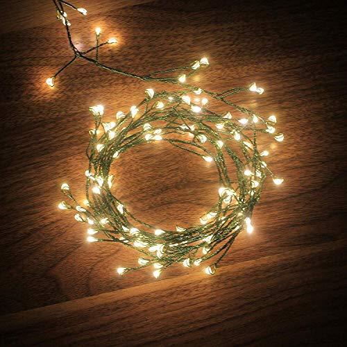 Micro Lichterkette, Dailyart® Antike 120er LED-Lichterkette Warm-Weiß Innen Micro Draht Vintage LED Licht Weihnachtsstern Beleuchtung Batterie-betrieben [Energieklasse A] -