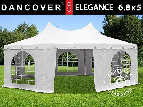 Dancover Achtkantiges Partyzelt Pavillon Festzelt Elegance PRO 6,8x5m, PVC