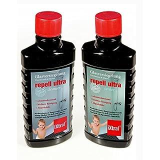 iXtral ® repell ultra Glas-Versiegelung Set gegen Kalk & Schmutz für Dusche & Fliesen. Mit Tiefen-Reiniger und Politur auch für Badewannen.