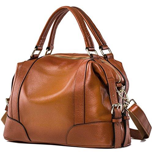 Jack&Chris ,  Damen Tasche , braun - Sorrel - Größe: L (Tote Quilted Large Handtasche)