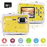 PROACC Fotocamera Impermeabile per Bambini, HD 720p 12MP Digitale Camera Kids...