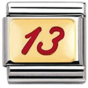 Nomination Composable Classic Good Luck Edelstahl, Email und 18K-Gold (13 ROT) 030205