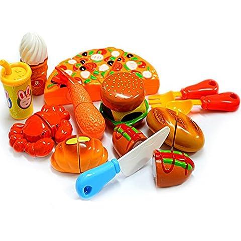 DIY Küche Vorgeben Spiel Lebensmittel Spielset Party Pretend Kinder-Rollenspiele Spielzeug für die Frühe,Pädagogisches (Küche Pretend Spielset)