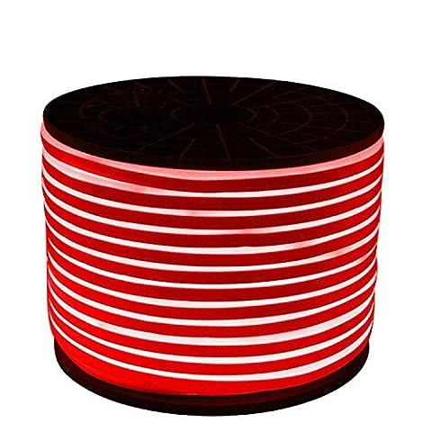 Best Choise 1PCS 5M 2835SMD 600LED LED Neon-Seil-Licht 2 Drähte LED Neon-Flex-Weiß DIP führte Neonband 220-240V / 110-130V im Freien im Freienfeiertags-Valentinsgruß-Dekoration-Beleuchtung Energie sparen ( Color : Red )