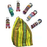 Muñecos quitapenas en bolsa (6 unidades, tamaño grande)