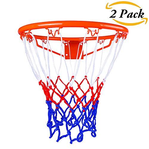 Indoor-ersatz (Aneco 2er Pack Heavy Duty Basketball Net 12 Loop 18
