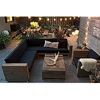 Jardín de lujo de muebles de madera maciza de roble con el acolchado - versión pesada