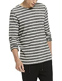 Scotch & Soda Herren Sweatshirt Lightweight Crewneck Sweat in Cotton Quality with Yarn Dyed