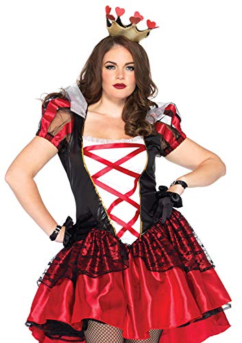 Leg Avenue 86166X - Königliche Königin Kostüm Set, Übergröße: 46, - Rote Königin Übergröße Kostüm