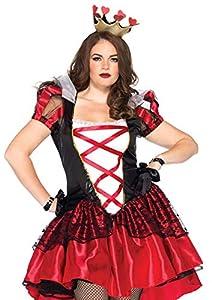 Leg Avenue- Mujer, Color Negro y Rojo, Talla Plus 3X/4X (EUR 52-56) (86166X09011)