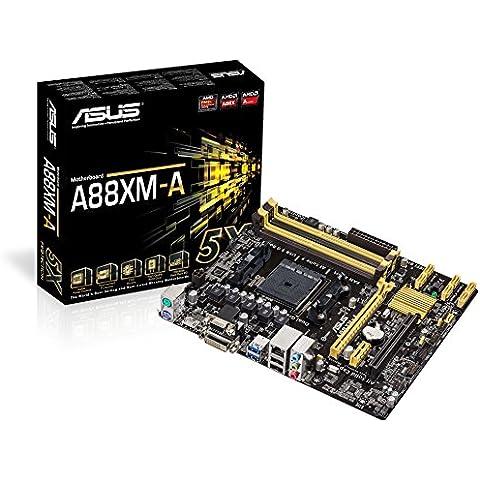 Asus A88XM-A DVI - Placa base / FM2 más enchufe / micro-ATX AMD A88X SATA III D-Sub HDMI USB 3.0