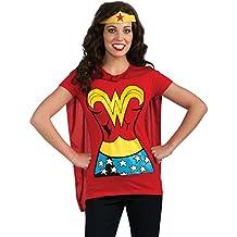 Wonder Woman T-camiseta de manga corta para mujer disfraz de capa kit-camiseta de manga corta diseño de corona para mayores de diseño de martillo de Thor