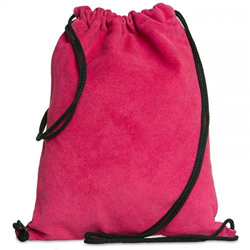 CASPAR TL713 Unisex Wildleder Turnbeutel, Farbe:pink;Größe:One Size