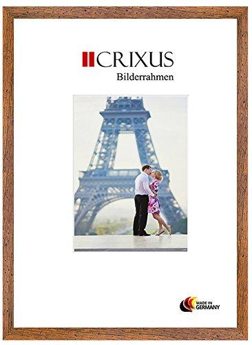 Crixus30 Echtholz Bilderrahmen für 42 x 38 cm Bilder, Farbe: Eiche Antik Rustikal, Massivholz...
