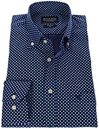 178682 - Bots & Bots - Exclusive Collection - Chemise Homme - 100% Coton - Micro Print - Button Down - Normal Fit