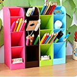VR SHOPEE Multifunction Four Grid Candy Colored Desktop Debris Storage Organizer Box for Office,Stationery Pen, Socks, Make up Tools (Set of 2)