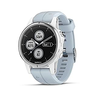 Garmin Fenix 5S Plus Compact Multisport Watch with Music, Maps and Garmin Pay, White with Seafoam Band (B07DKNDWYG) | Amazon price tracker / tracking, Amazon price history charts, Amazon price watches, Amazon price drop alerts