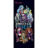 Tür Fototapete Türtapete 91x211 cm Türfolie selbstklebend o. Vlies PREMIUM PLUS - Tür Türposter Türpanel Foto Tapete Bild - MATTEL Monster High Kindertapete Cartoon Puppen Monster Mode - no. 1142, Material:91x211cm Folie (selbstkl.)