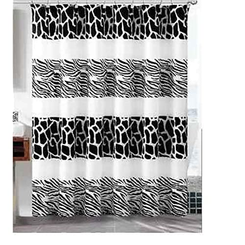 and vision graceful cotton newest funky black curtain fabric curtains cmt striped white of