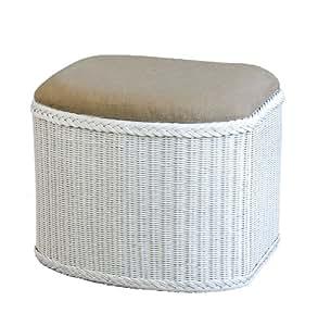 panier 224 linge en rotin avec assise rembourr 233 e blanc korb outlet fr cuisine maison