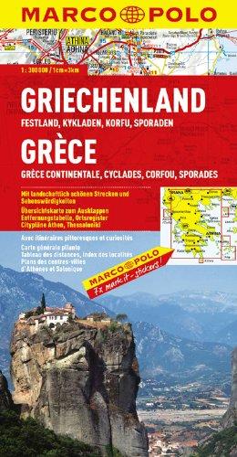 MARCO POLO Karte Griechenland, Festland, Kykladen, Korfu, Sporaden (MARCO POLO Karten 1:300.000) -