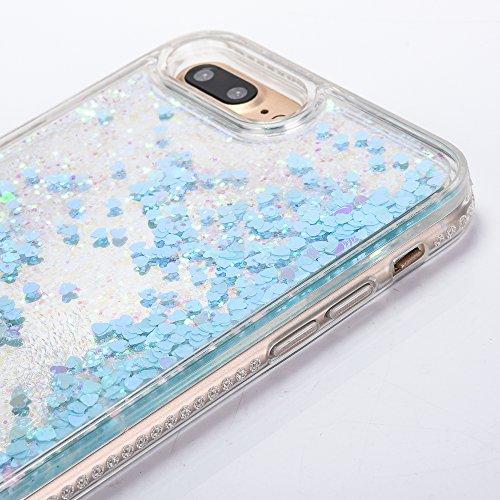 iPhone 6 Hülle, Voguecase Flüssig Diamant Schwimmend Treibsand Glitzer Bling Silikon Schutzhülle / Case / Cover / Hülle / TPU + PC Gel Skin für Apple iPhone 6/6S 4.7(Star/Pink) + Gratis Universal Eing Star/Blau