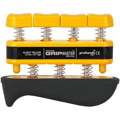 prohands by Gripmaster medical - Aparato entrenador de dedos, color amarillo, resistencia 1.5 lbs