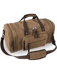 VENTCY Canvas Reisetasche Herren Damen Weekender Sporttasche Männer Frauen Gym  Duffle Bag Vintage Handgepäck Tasche 40L 9dbee6725e