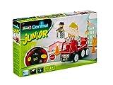 Revell Control Junior RC Car Feuerwehr - ferngesteuertes Feuerwehr Auto mit 40 MHz Fernsteuerung, kindgerechte Gestaltung, ab 3, mit Teilen und Figur Zum Bauen und Spielen, LED-Blinklichtern - 23001 Test