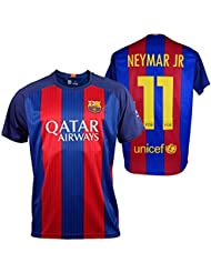FC BARCELONA, réplique shirt officiel NEYMAR, la première équipe du FC Barcelone pour adultes, 2016-2017- saison Taille (L)