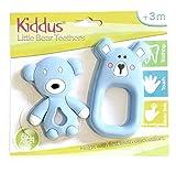 Azul Kiddus Set 2 Mordedores Beb/é 100/% silicona org/ánica libre de BPA Alivia el dolor de enc/ías y calma al beb/é en la salida de sus primeros dientes 3M+