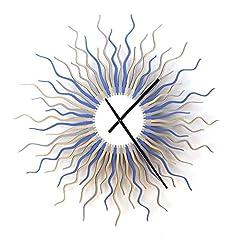 Idea Regalo - Medusa artico - 59cm orologio da parete in legno nei toni del ghiaccio