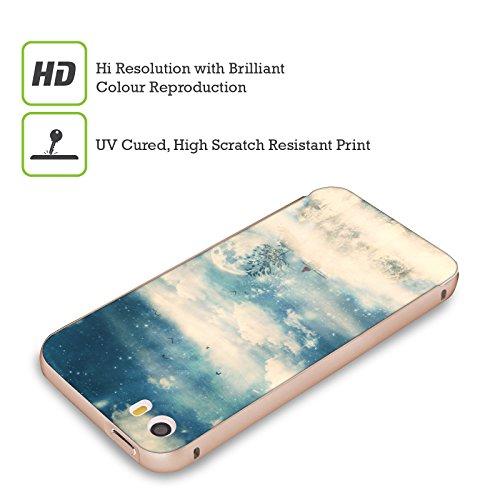 Ufficiale Paula Belle Flores La Mia Casa Da Sogno Spazio Surreale Oro Cover Contorno con Bumper in Alluminio per Apple iPhone 5 / 5s / SE There Is A Place