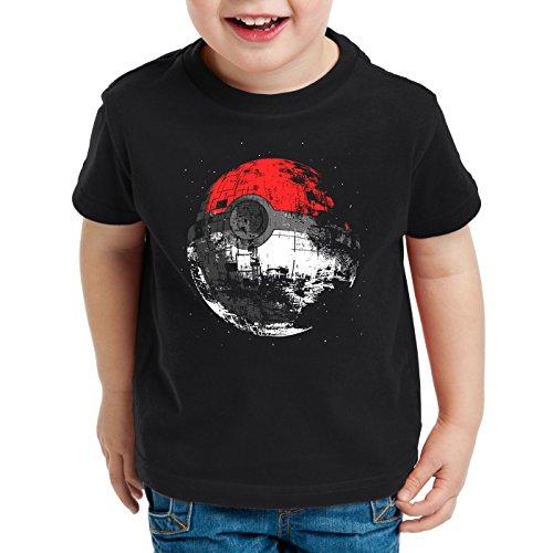 style3 Poke Death T-shirt per bambini e ragazzi morte nera star ball monster, Dimensione:152