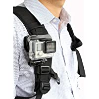 TELESIN Rotational Backpack Clip Mount Super Solid Fast Release Clamp Rotation Hat Mount for Gopro Hero3,Hero3+,Hero4 and Hero4 Session,Hero5 Black,Hero5 Session