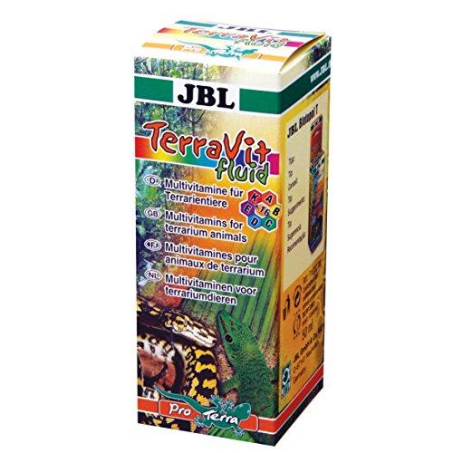 JBL 71032 Ergänzungsfutter für Terrarientiere, Vitamine und Spurenelemente, Flüssig , TerraVit Fluid, 50 ml
