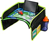 Plateau de jeu EasyXplorer - Pour enfants - Avec surface de dessin effaçable et espace de jeuAjustement universel.Pour organiser les jouets et les collations, et s'amuser en voiture, en avion et dans la poussette.