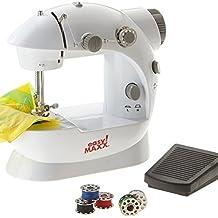 TrAdE shop Traesio Mini Máquina de Coser Grapadora Portátil 4 en 1 DE Viaje con Pedal