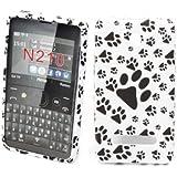 Accessory Master 5055716364989 Weiß Fuß Schritt Blumen Design Silikon Schtuzhülle für Nokia Asha 210 preiswert